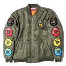 RECORD LABEL QUILTING JACKET (KHAKI)