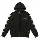 NINE x STARTER ZIP UP HOODIE (BLACK)