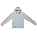 SPORTS RIB ZIP UP HOODIE (GRAY)